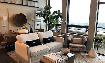 Living Room, High Pointe Apartments, 0