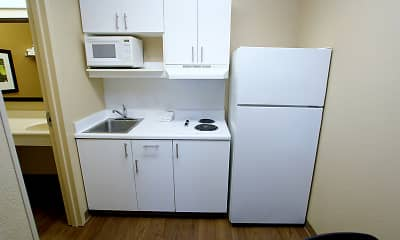 Kitchen, Furnished Studio - Fresno - North, 1