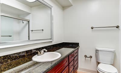 Bathroom, Normandy Park Apartments, 2