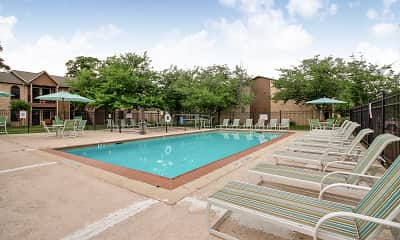 Pool, The Brazos Apartments, 1