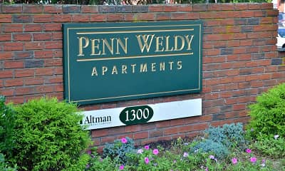 Community Signage, Penn Weldy Apartments, 0