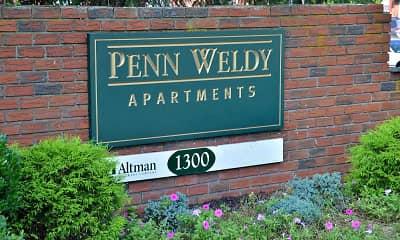 Community Signage, Penn Weldy Apartments, 0