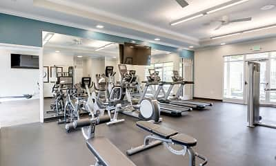 Fitness Weight Room, Satyr Hill Apartments, 2