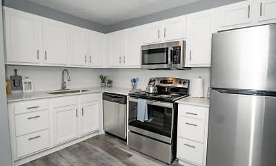 Kitchen, Station J-Town Apartments, 0