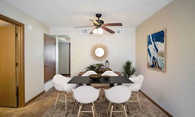 Dining Room, Crystal Ridge Apartments, 1