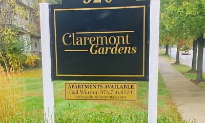 Community Signage, Claremont Holdings LLC Apartments, 2