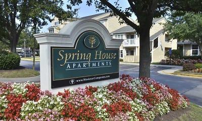 Community Signage, Spring House Apartments, 2
