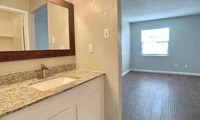 Bathroom, Garden Court Apartments, 1
