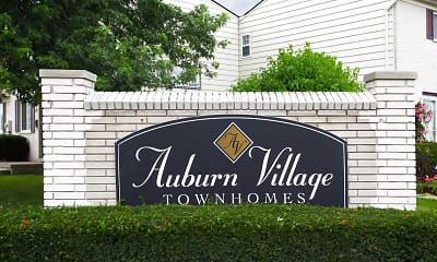 Community Signage, Auburn Village Townhomes, 2