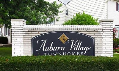 Community Signage, Auburn Village Townhomes, 2