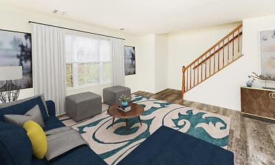 Living Room, The Mews at Annandale Townhomes, 1