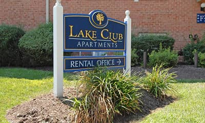 Community Signage, Lake Club, 1