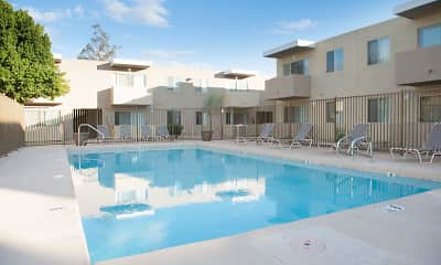 Pool, Park Village Apartments, 1