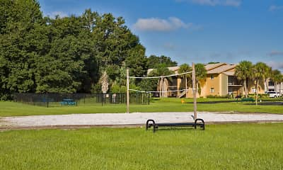surrounding community with a large lawn, The Lodge at Woodlake, 2