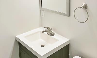 Bathroom, Union And Grove Apartments, 2