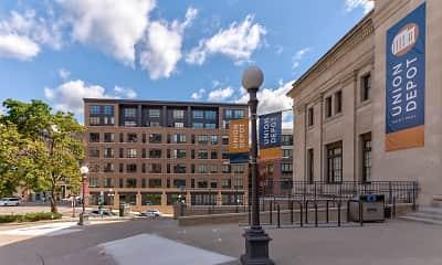 Building, Oaks Union Depot Apartments, 1