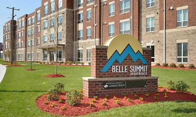 Community Signage, Belle Summit Apartments, 0