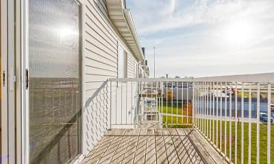 Patio / Deck, Woodhaven Place Apartments, 2