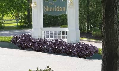 Community Signage, Sheridan Apartments, 1