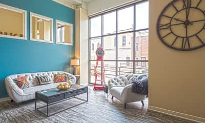 Living Room, Artisan Apartments, 1