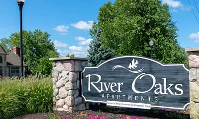 Community Signage, River Oaks Apartments, 2