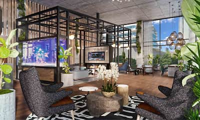 Living Room, RiverHouse 9 at Port Imperial, 0