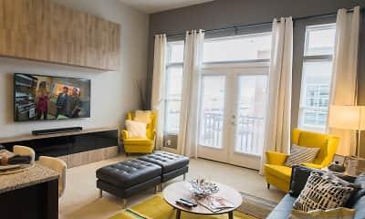 Living Room, Liberty Center Apartments, 0