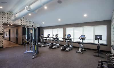 Fitness Weight Room, Summit Hill Apartments, 2