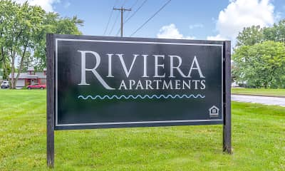 Community Signage, Riviera Apartments, 1