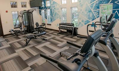 Fitness Weight Room, Cascata Luxury Apartments, 2