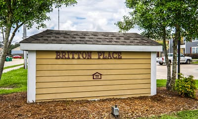 Community Signage, Britton Place Apartments, 2