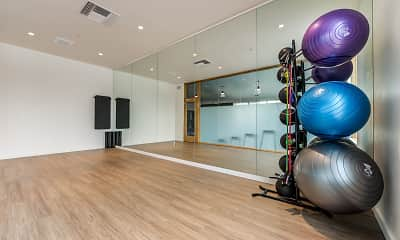 Fitness Weight Room, The Clara, 2