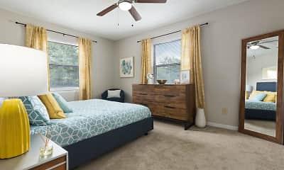 Bedroom, Edgewater Village Apartments, 2