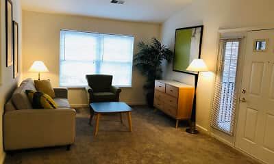 Living Room, Pinebrook & Library Park Apartments, 0