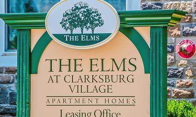 Community Signage, The Elms At Clarksburg Village, 2