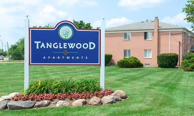 Community Signage, Tanglewood Apartments, 0