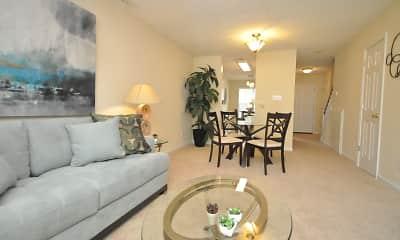 Living Room, Pine Ridge Apartments, 0