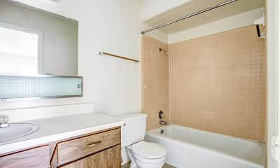 Bathroom, Timbers North Apartments, 2
