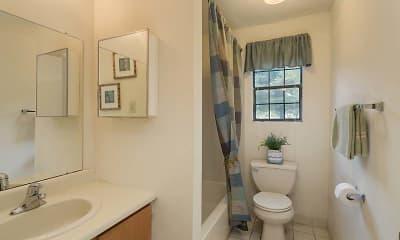 Bathroom, Hempstead Garden Apartments, 2