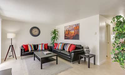 Living Room, Sunnyside Park Apartments, 0