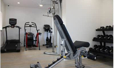 Fitness Weight Room, International Club Apartments, 2