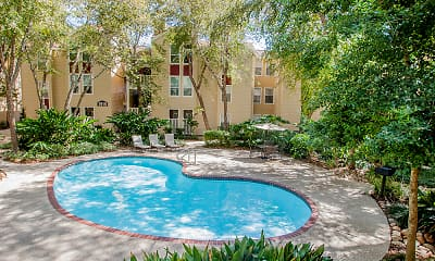 Pool, Hickory Creek Apartments, 0