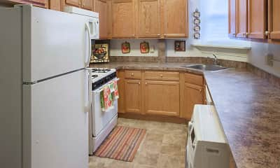 Kitchen, Caldwell Apartments, 1