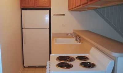 Kitchen, Oak Green Townhomes, 1