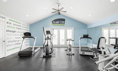 Fitness Weight Room, Island Club Apartments, 2