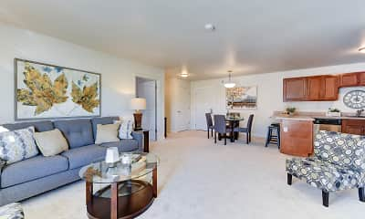 Living Room, Lakeview Senior Apartments, 1