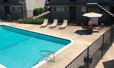 Pool, Orange Grove Apartments, 2