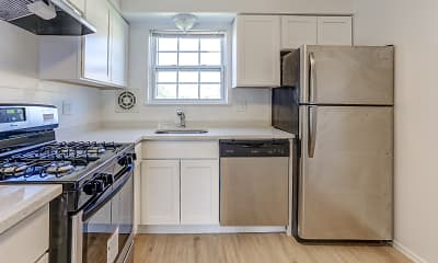 Kitchen, Chesterfield Apartments, 0
