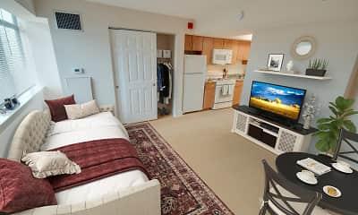 Living Room, Linden Park - Senior Living 62+, 2