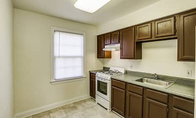Kitchen, Westhills Square Apartments, 1